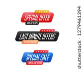 special offer  last minute... | Shutterstock .eps vector #1279461394