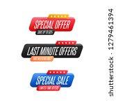 special offer  last minute... | Shutterstock .eps vector #1279461394