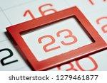 twenty third day of the month... | Shutterstock . vector #1279461877