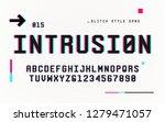 technology san serif uppercase... | Shutterstock .eps vector #1279471057