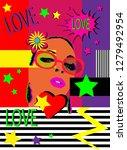 love pop art background poster... | Shutterstock .eps vector #1279492954