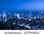 tel aviv and ramat gan skyline... | Shutterstock . vector #127949651