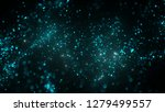 abstract real cyan dust... | Shutterstock . vector #1279499557