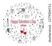 happy valentine's day greeting...   Shutterstock .eps vector #1279504711
