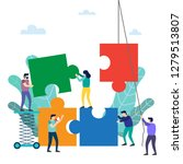teamwork. people connecting... | Shutterstock .eps vector #1279513807