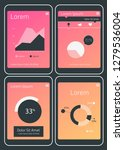 mobile app ui chart and diagram ...