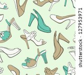 shoes seamless pattern | Shutterstock .eps vector #127953971