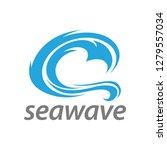 abstract illustration blue sea...   Shutterstock .eps vector #1279557034