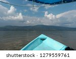 lake view  on boat  mountains... | Shutterstock . vector #1279559761