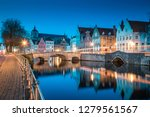 classic panoramic twilight view ... | Shutterstock . vector #1279561567