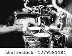 espresso shot from coffee... | Shutterstock . vector #1279581181