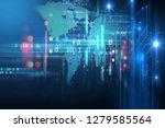 programming code abstract... | Shutterstock . vector #1279585564