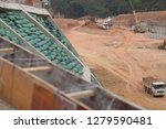 Highway Construction Site With...