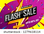 flash sale banner template. | Shutterstock .eps vector #1279618114