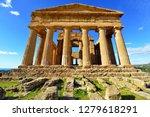 ancient greek temple concordia...   Shutterstock . vector #1279618291