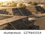 tourist on a pyramid in... | Shutterstock . vector #1279641514