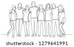 high school class of friends... | Shutterstock .eps vector #1279641991