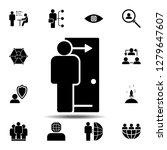 door  employee icon. simple...