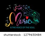 music is the voice of the soul...   Shutterstock .eps vector #1279650484
