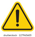 Hazard Warning Attention Sign...