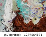 bright multi colored painting ... | Shutterstock . vector #1279664971