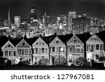 victorian style houses on the...