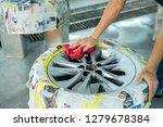 man bodybuilder to work on car... | Shutterstock . vector #1279678384