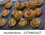 delicious banana muffin with... | Shutterstock . vector #1279681627