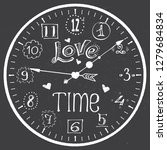 hand drawn watch with love time ...   Shutterstock .eps vector #1279684834