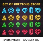set of stones icon neon light...   Shutterstock .eps vector #1279685107