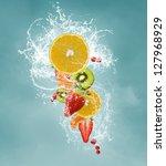 fresh fruits | Shutterstock . vector #127968929