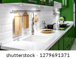 acrylic kitchen sink built into ... | Shutterstock . vector #1279691371