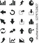 solid black vector icon set  ... | Shutterstock .eps vector #1279712827