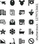 solid black vector icon set  ... | Shutterstock .eps vector #1279713661