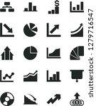 solid black vector icon set  ... | Shutterstock .eps vector #1279716547