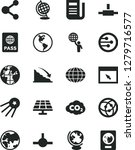 solid black vector icon set  ... | Shutterstock .eps vector #1279716577