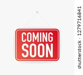 coming soon hanging sign on... | Shutterstock .eps vector #1279716841