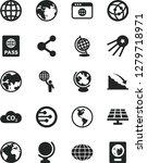 solid black vector icon set  ... | Shutterstock .eps vector #1279718971