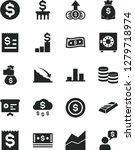 solid black vector icon set  ... | Shutterstock .eps vector #1279718974