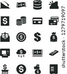 solid black vector icon set  ... | Shutterstock .eps vector #1279719097
