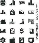 solid black vector icon set  ... | Shutterstock .eps vector #1279721794