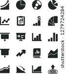 solid black vector icon set  ... | Shutterstock .eps vector #1279724284