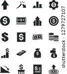 solid black vector icon set  ... | Shutterstock .eps vector #1279727107
