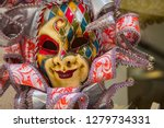 colorful mask for carnival in... | Shutterstock . vector #1279734331