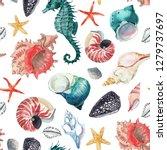 Watercolor Marine Pattern ...