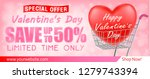 valentines day shopping sale... | Shutterstock .eps vector #1279743394