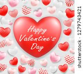 happy valentine day with pink... | Shutterstock .eps vector #1279743421