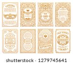 vintage golden vector set retro ... | Shutterstock .eps vector #1279745641