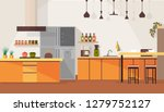 spacious kitchen interior... | Shutterstock .eps vector #1279752127