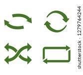 green recycle arrow set vector... | Shutterstock .eps vector #1279764244